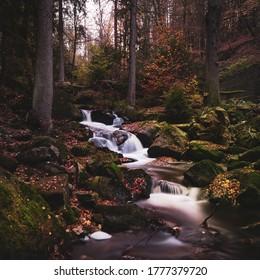 The Ilse-Waterfall in Ilsenburg, Germnay