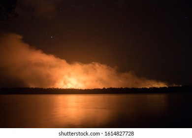 ILUKA, NSW / AUSTRALIA - NOVEMBER 27, 2019: Bushfires in Australia