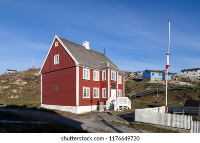 Ilulissat, Greenland - July 01, 2018: Knud Rasmussen's birthplace, which is now a museum