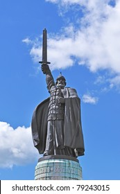 Ilya of Murom sculpture, hero of Russian epic in ancient town Murom, Russia - Shutterstock ID 79243015