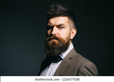 Im not just in the fashion business. Mens fashion. Bearded man after barber shop. Man with long beard in business wear. Business as usual. Being a barber is about taking care of the people.