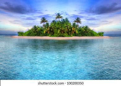 Tropische Insel der Malediven