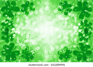 Abstract green glitter sparkle confetti background for party invite, St Patrick's Day luck, lucky Saint Paddy Irish texture, happy Pattys, Celtic shamrock card pattern, Spring sale or fun border frame