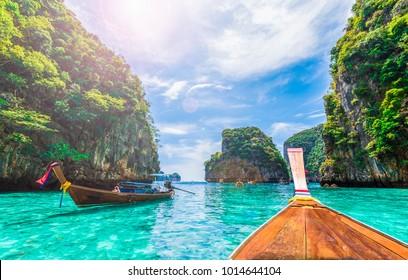 タイ、ピピ島、ローサマ湾の眺め