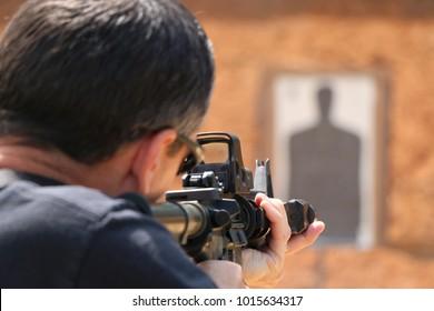 Politie vuurwapen training
