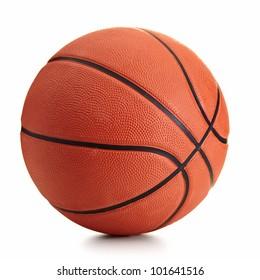 Basketballball über weißem Hintergrund