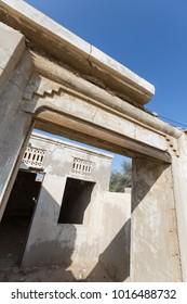 Building ruin, Old Ras Al Khaimah abandoned ghost town, Al Jazirah Al Hamra
