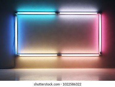 Neon frame. Background concept