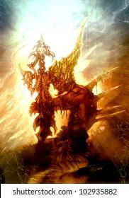 Fantasy warrior Fantasy warrior with sword