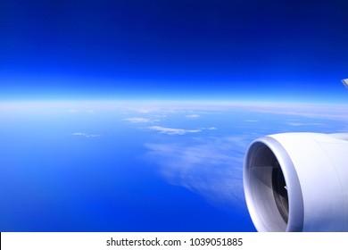 10.000 metre yükseklikte görülen dünya.