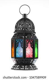 Ramadan Laterne isoliert. Arabische Dekorationslampe auf weißem Hintergrund.