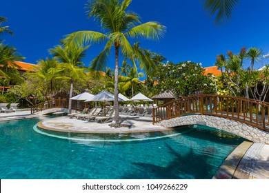インドネシア・バリ島のヌサドゥアリゾート-自然休暇の背景