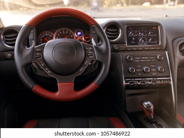 Sports car dashboard and driver palace