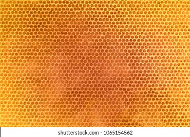 Textura do favo de mel. Fundo amarelo brilhante. Células de mel.