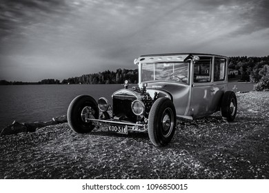 A Hotrod On A Beach