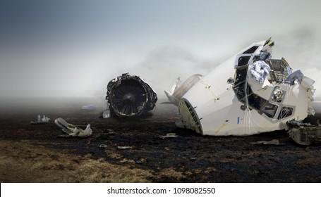 霧深い天候での飛行機墜落事故