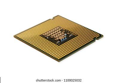 chip de procesador cpu aislado en blanco