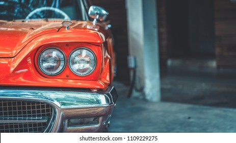 ヴィンテージカーのヘッドライト