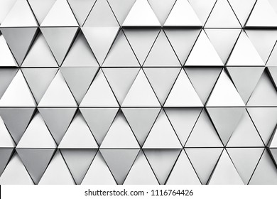 Geometric silver background with rhombus and nodes. Modern dilver background.