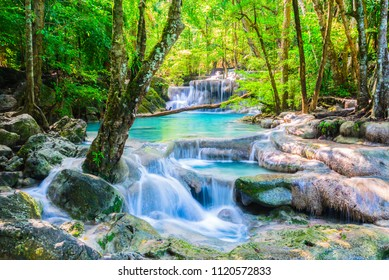 Erawan Wasserfall im Nationalpark, Thailand