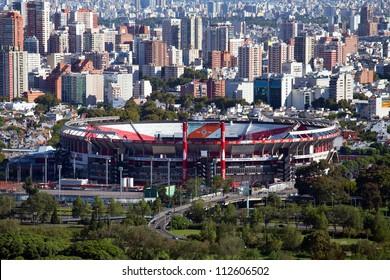 Blick vom Hubschrauber nach Buenos Aires, Argentinien