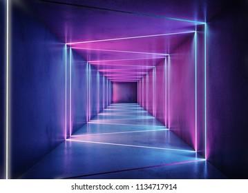Neon background concept