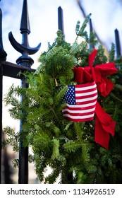 愛国的なクリスマスリース