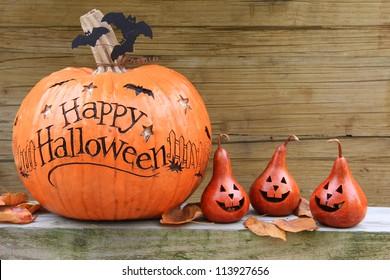 ハッピーハロウィンかぼちゃディスプレイ