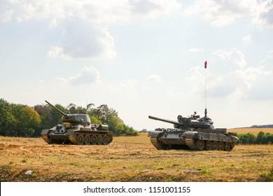 authentieke militaire tank uit de Tweede Wereldoorlog