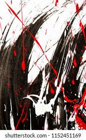 Japanse kalligrafie en waterverf op Japans papier