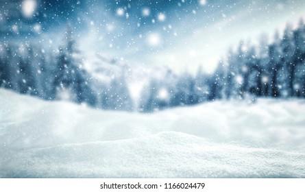 Winterhintergrund von Schnee und Frost mit freiem Raum für Ihre Dekoration.