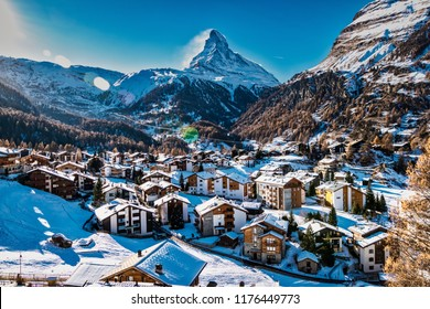 Zermatt y montaña Matterhorn