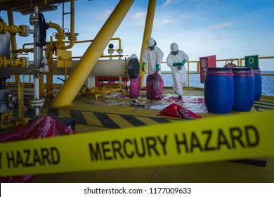 生産オペレーターは、石油とガスのプロセス、石油とリグのプラント、オフショアの石油とガス産業、海のオフショアのオイルとリグ、生産プロセスで水銀有害廃棄物処理を行っています。