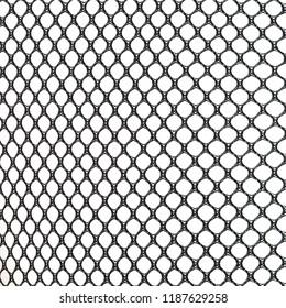 Spitzengewebe schwarzer Gitter isolierter weißer Hintergrund