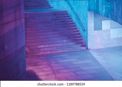 future cyberpunk neon city architecture