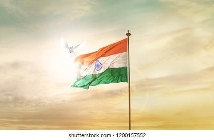 INDIA FLAG FLYING