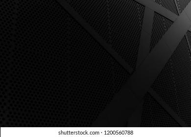 黒の背景。写真。幾何学的な壁紙。バックラウンド