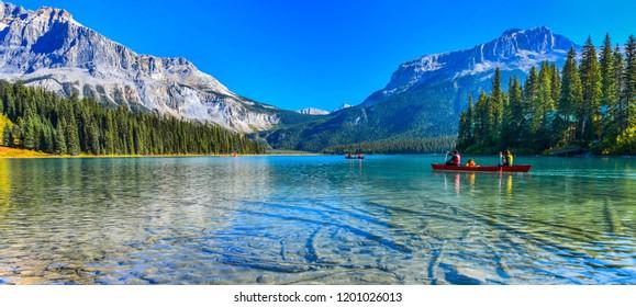 Lago Esmeralda, Parque Nacional Yoho en Canadá