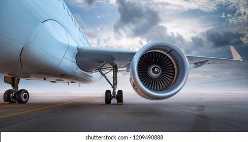 moderne Flugzeuge eines Flugplatzes