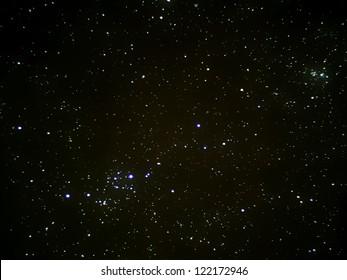 宇宙の星、実際の写真
