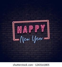 Frohes Neues Jahr Neon
