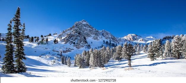 Skifahren in Utah, USA