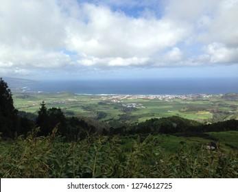 Panoramablick auf die Azoren