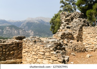 Ruins of the ancient Greek city of Sparta, Peloponnese, Greece