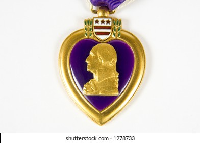 A macro image of a Purple Heart 10 (memorial day series)