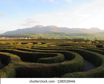 北アイルランドのモーン山脈、キャッスルウェランのすばらしい眺め。