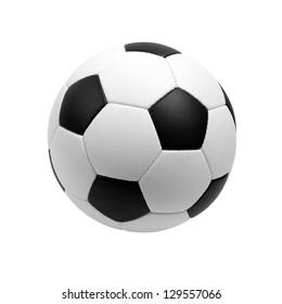 Fußball isoliert auf weiß