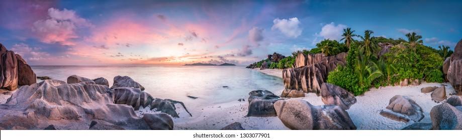 Strand an der Anse Source d'Argent, La Digue, Seychellen