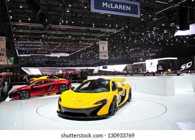 GENF, 5. MÄRZ: McLaren Stand auf dem 83. Genfer Autosalon in der Schweiz am 5. März 2013.