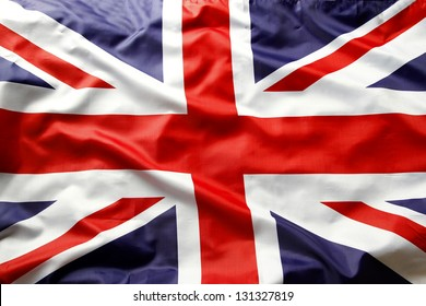 Nahaufnahme der Union Jack Flagge